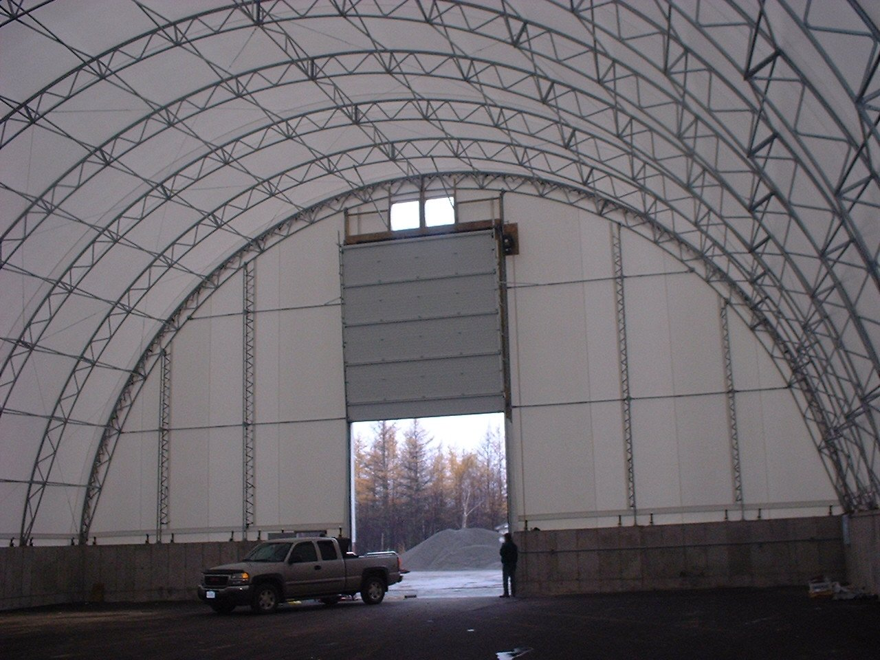 DOME BUILDINGS fabric buildings 80' x 120' warehouse