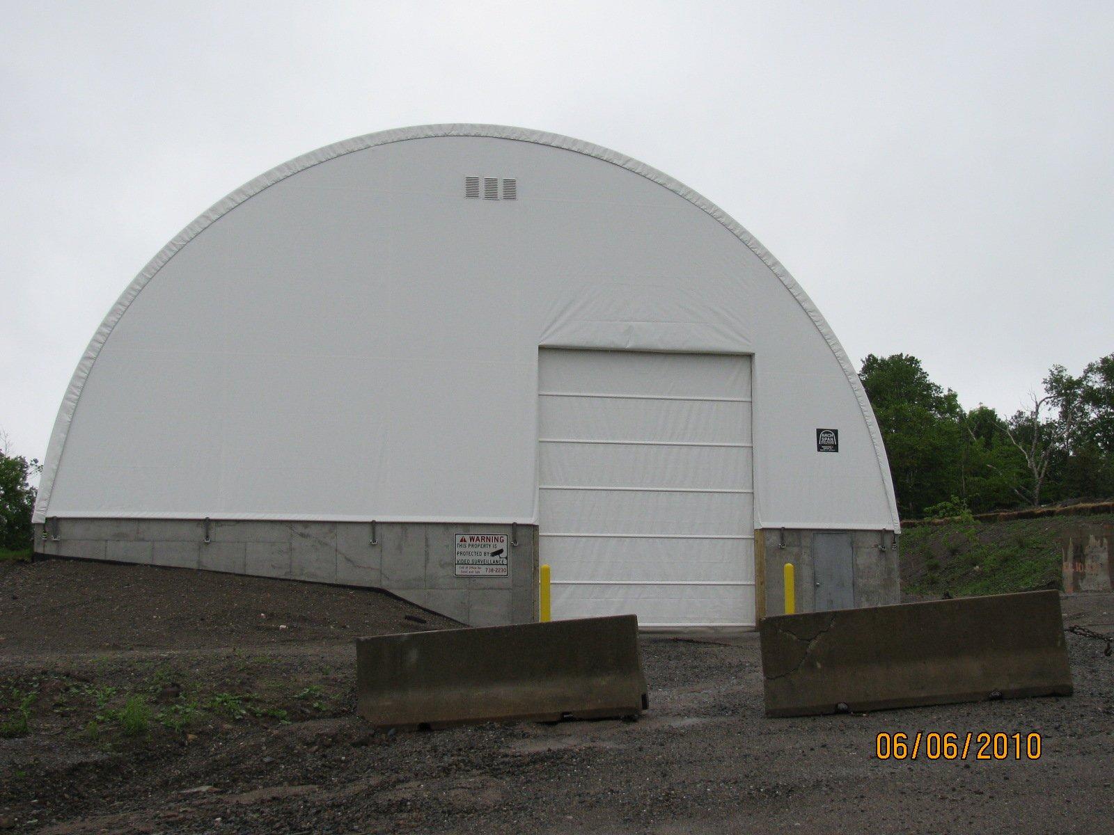 DOME BUILDINGS fabric buildings 60' x 200' fertilizer storage building