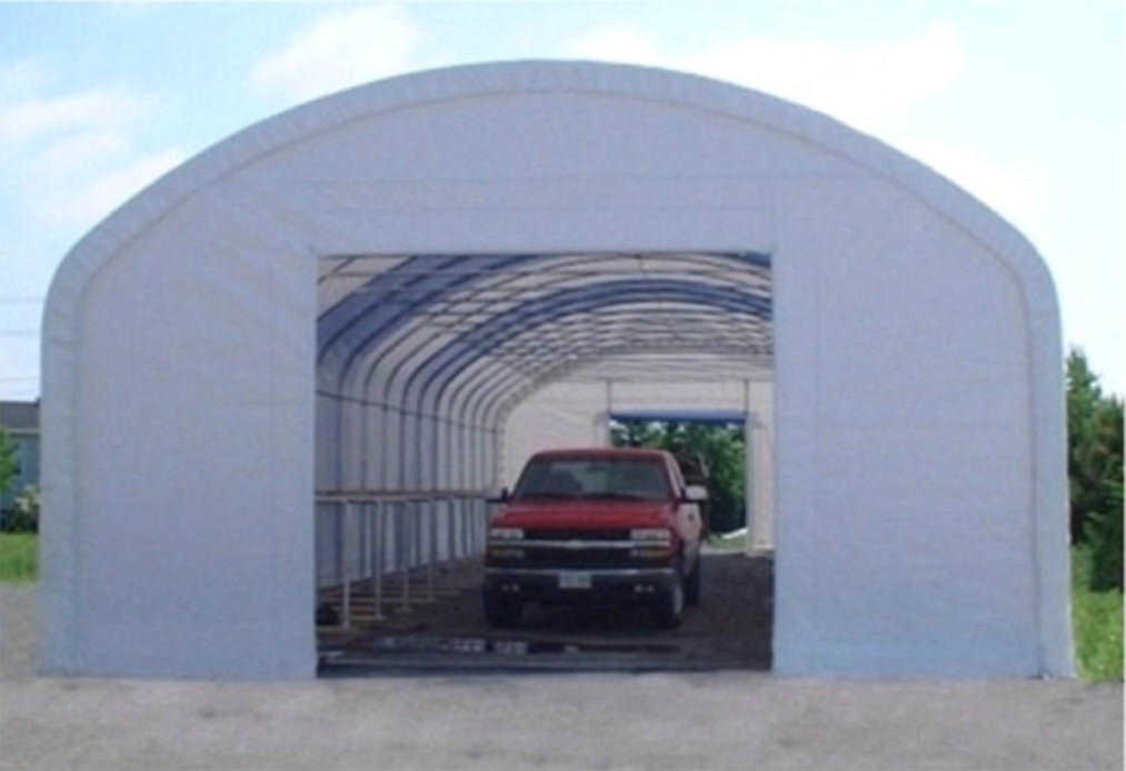 cover-tech inc. 30' x 80' single pipe STRAIGHT WALL BUILDINGS