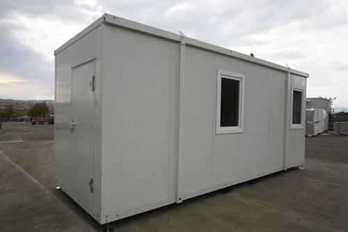 Cover-Tech Inc. 20' portable office container erected
