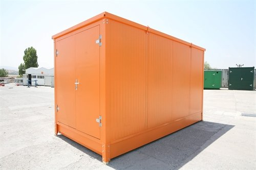 Cover-Tech Inc. Orange insulated flatpack container 16' long