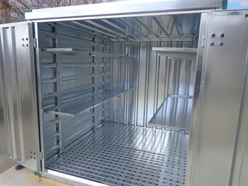 Cover-Tech Inc. Portable Container with steel grate floor