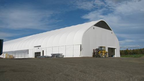 cover-tech inc. 72' x 300' dairy barn with roll up sides GOTHIC BUILDINGS
