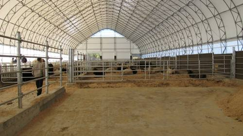 cover-tech inc. 72' x 300' dairy barn GOTHIC BUILDINGS