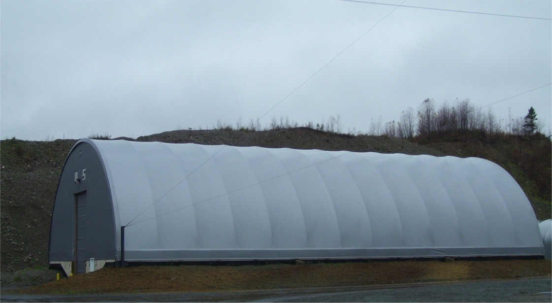 72' x 130' replacement building cover with end walls