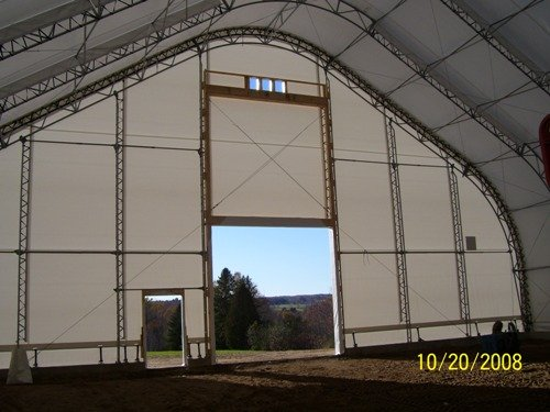 cover-tech inc. Inside of 72' wide riding arena GOTHIC BUILDINGS