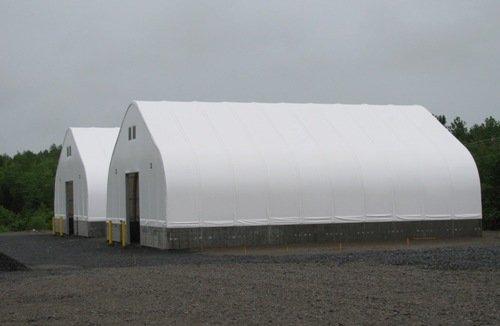 80' x 120' salt storage buildings GOTHIC BUILDINGS