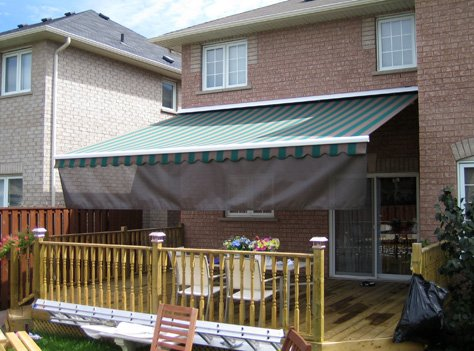 Adalia Extreme Awning with roll screen on front