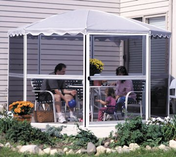 11' round gazebo perfect summer outdoor activity