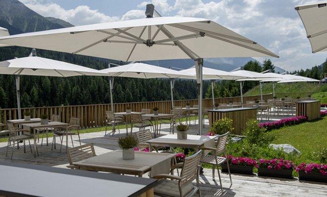 sidepost umbrella sombrano s+ swiss quality by glatz made from heavy duty anodized aluminium
