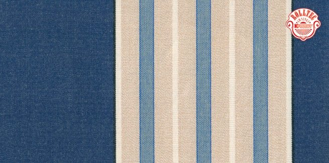residential retractable awning fabric color blue stripes 432