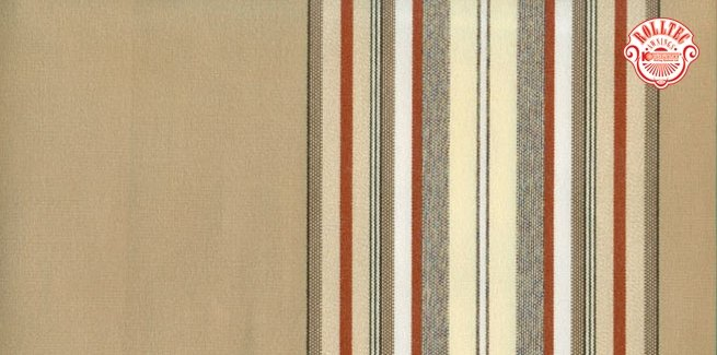 residential retractable awning fabric color brown stripes 2704