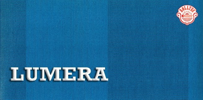 residential retractable awning fabric color blue stripes 338659 LUMERA