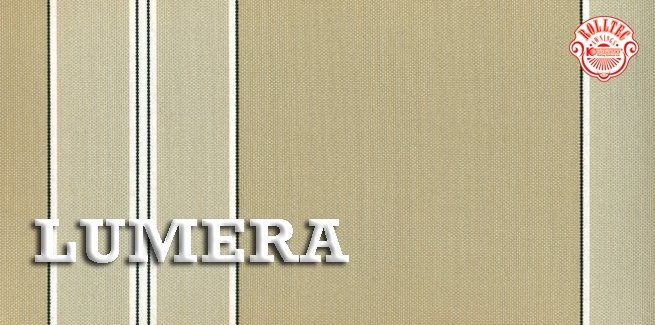 residential retractable awning fabric color brown stripes 338702 LUMERA