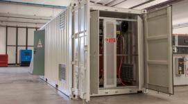 container con trasformatori in resina