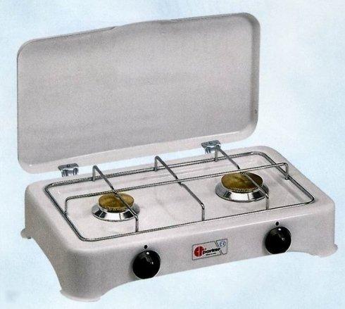 cucina a gas con due fuochi
