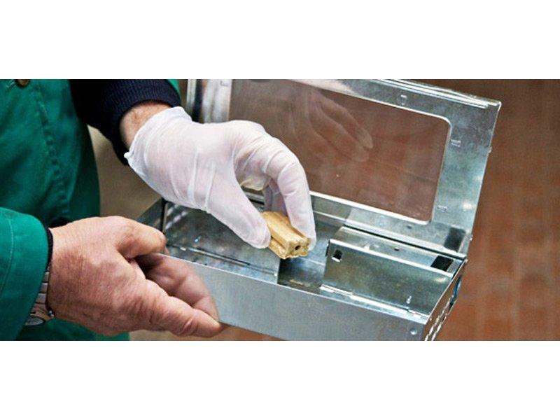 pezzetto in legno dentro una scatola in ferro