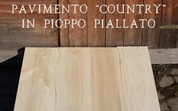 planed poplar flooring