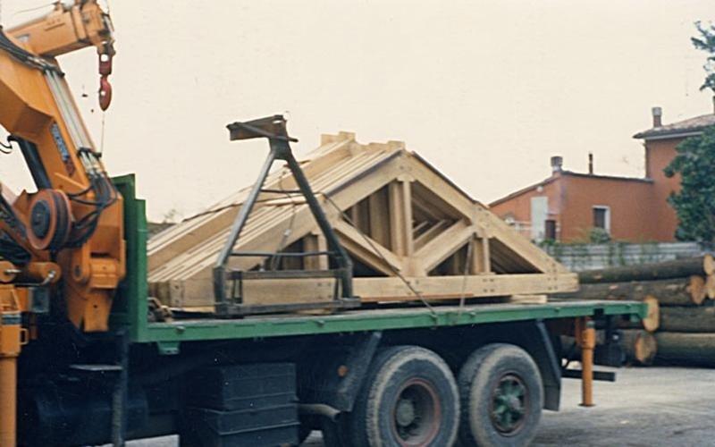 solid spruce beams