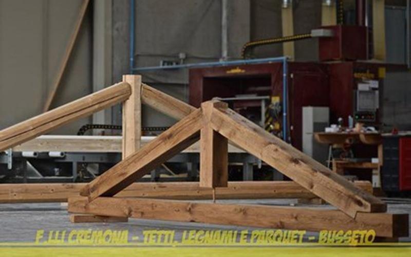 Solid oak truss