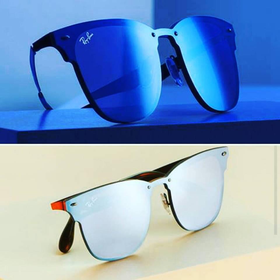 due occhiali da sole ray ban