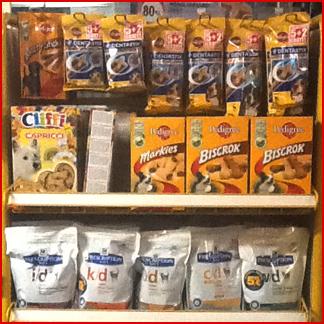 assortimento completo mangime per animali