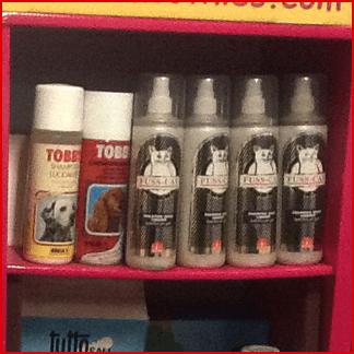 spray per la pulizia degli animali domestici