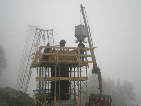 costruzione fondamenta teleferica