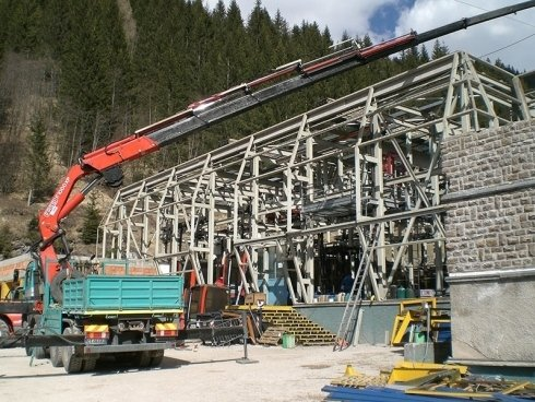 edificazione stazione inpianti di risalita