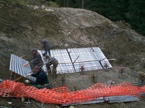 fondamenta per struttura impianto