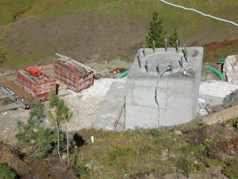 fondamenta cemento tralicci