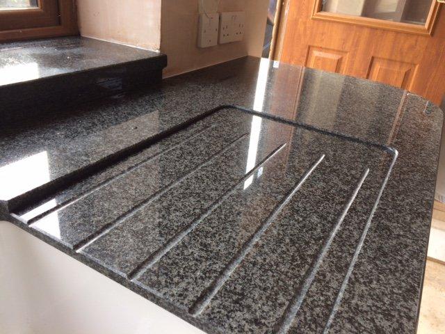 black coloured granite