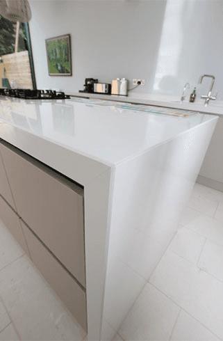 white coloured kitchen