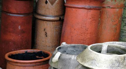damaged chimney pot