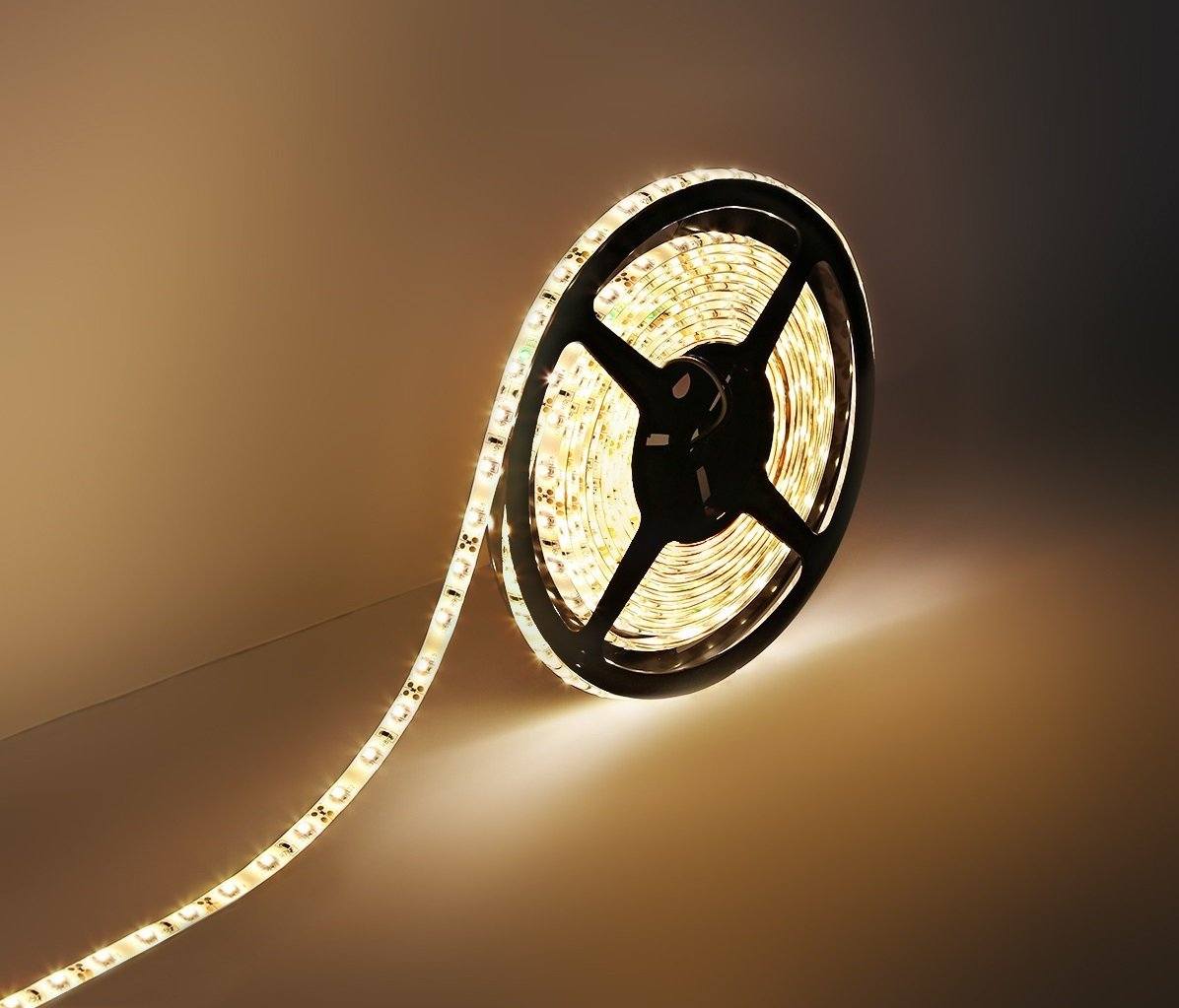 Worm LED strip for stretch ceiling