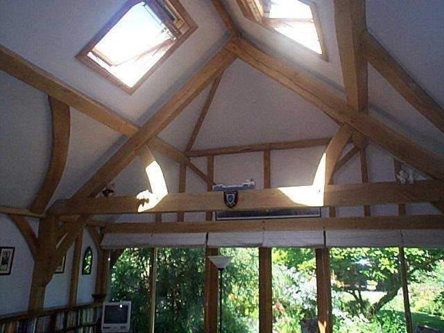 skylight and wooden construction
