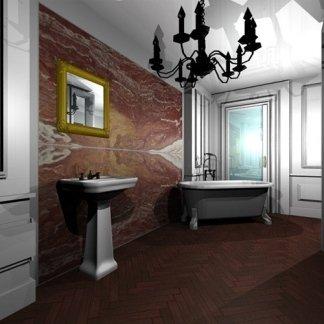 rivestimento marmo bagni