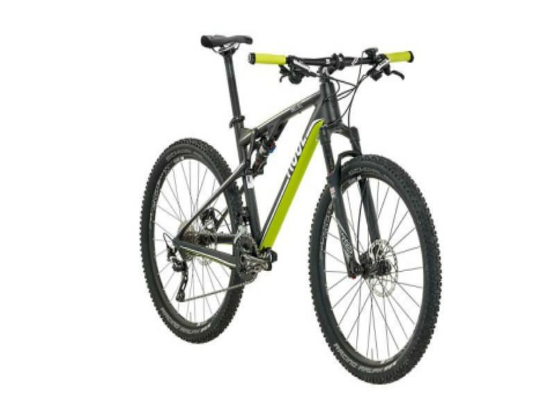 una mountain bike gialla e nera