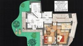 appartamento con giardino, alloggi classe b, pianta alloggio