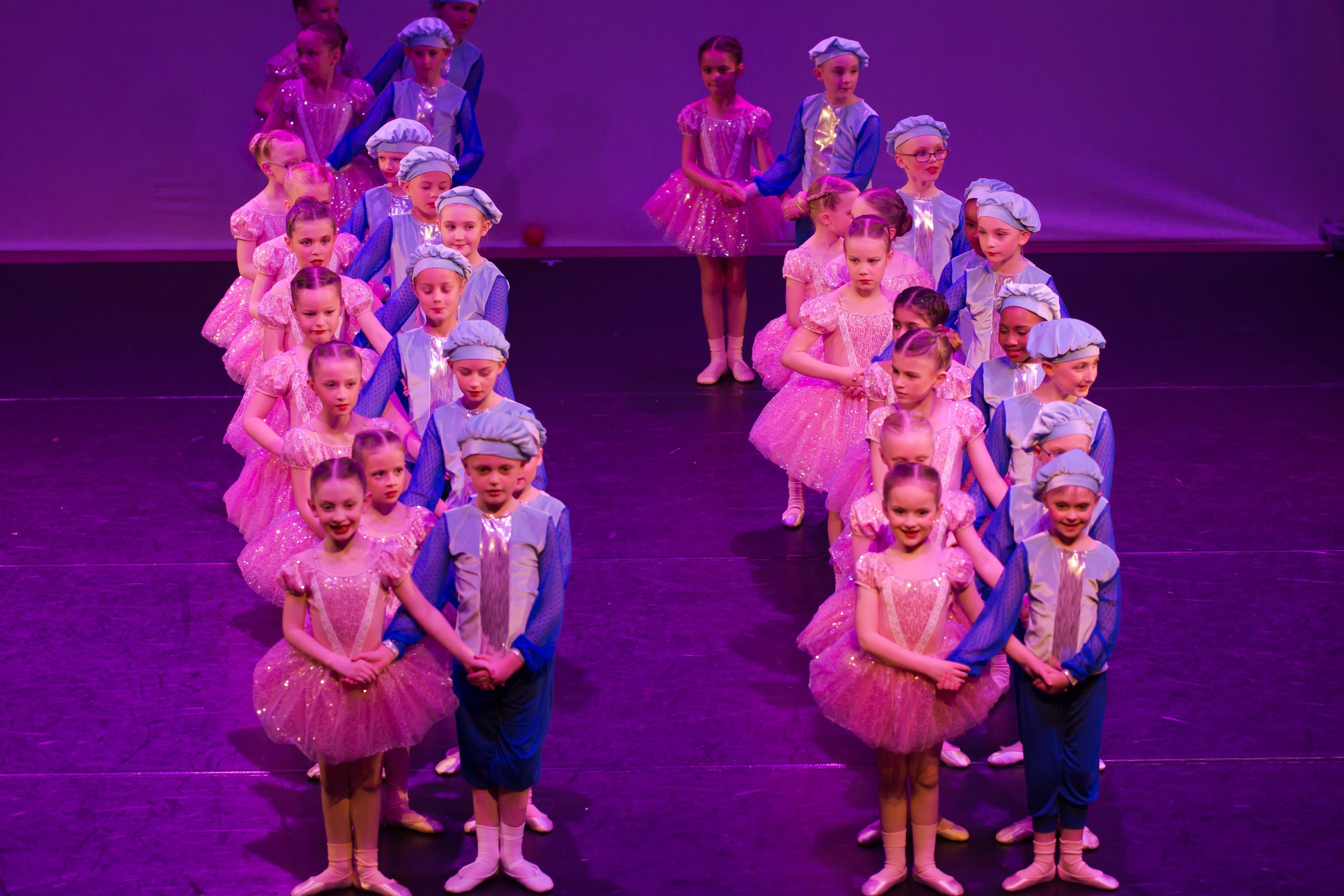 students learning BALLET