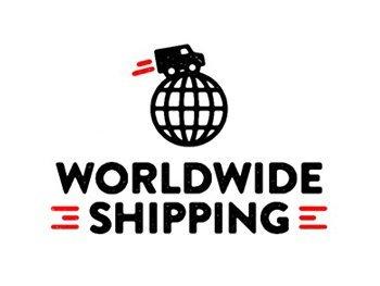 Worldwide shipping logo