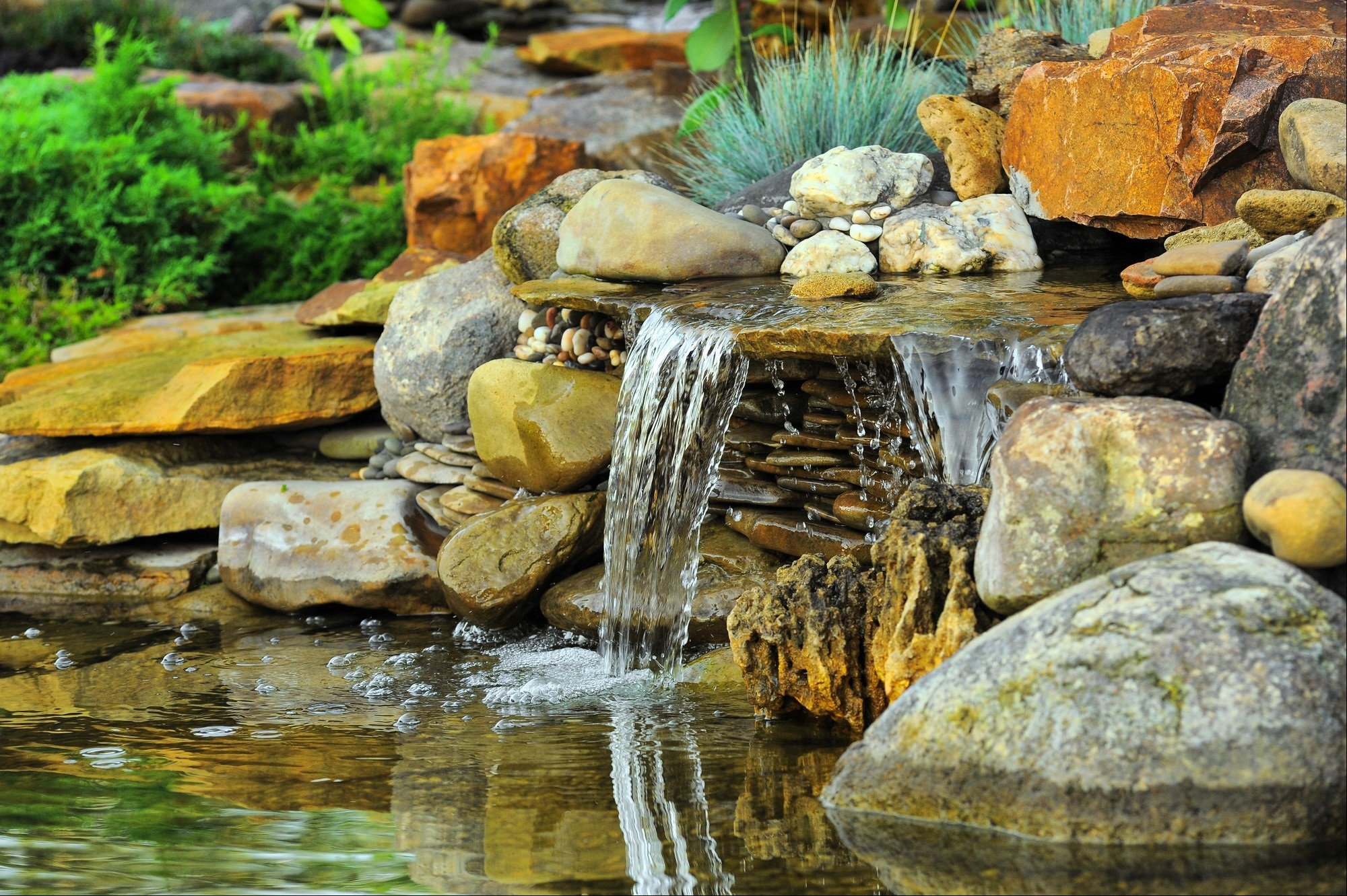 rockery style waterfall water feature