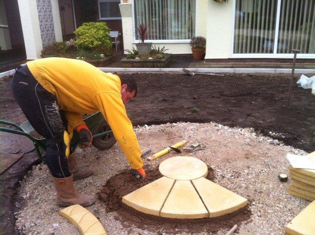 Round patio installation