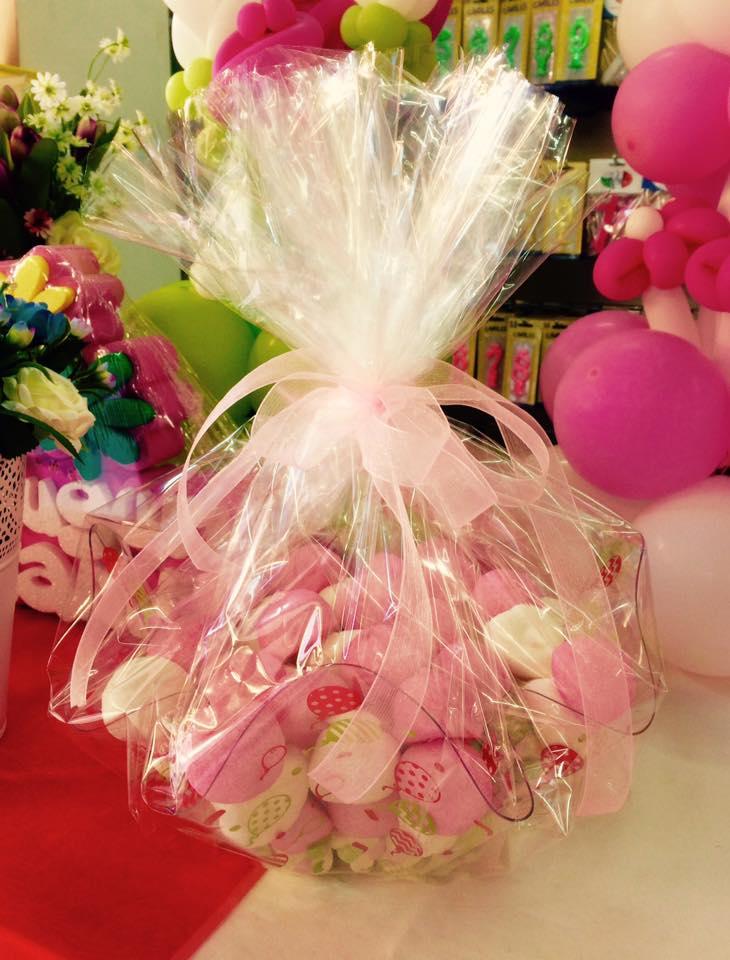 confezione confetti bianchi e rosa