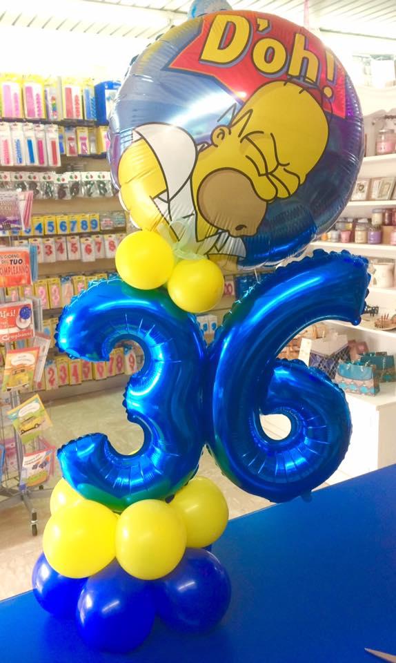 palloncino con numero 36