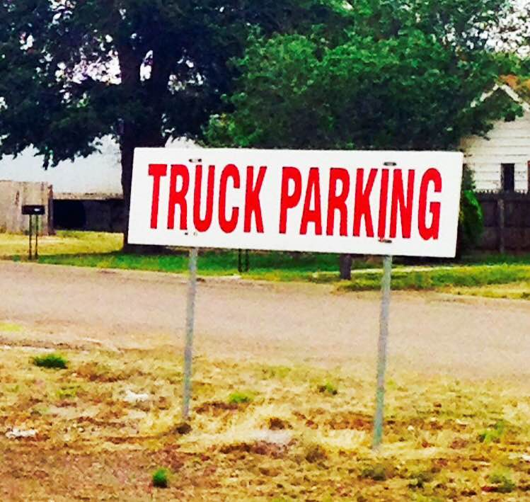 Truck parking sign