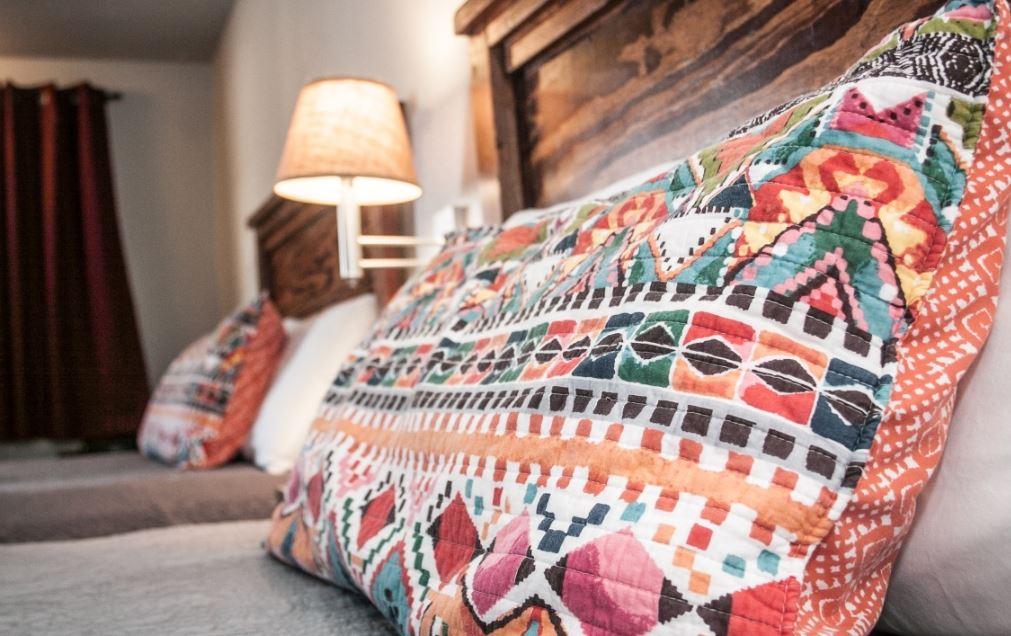 Hotel bed in Lovelland, TX