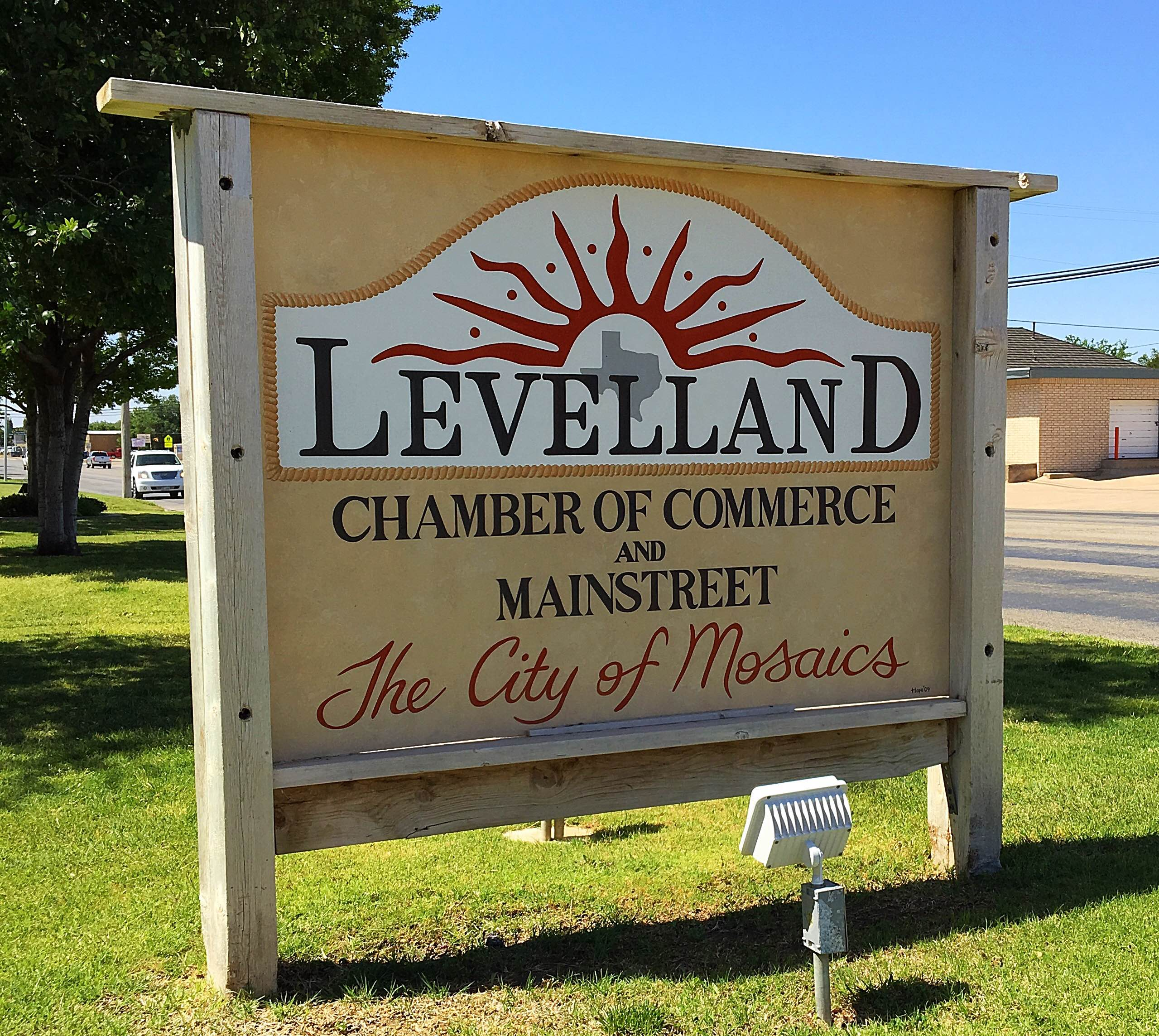 Levelland Chamber or Commerce sign