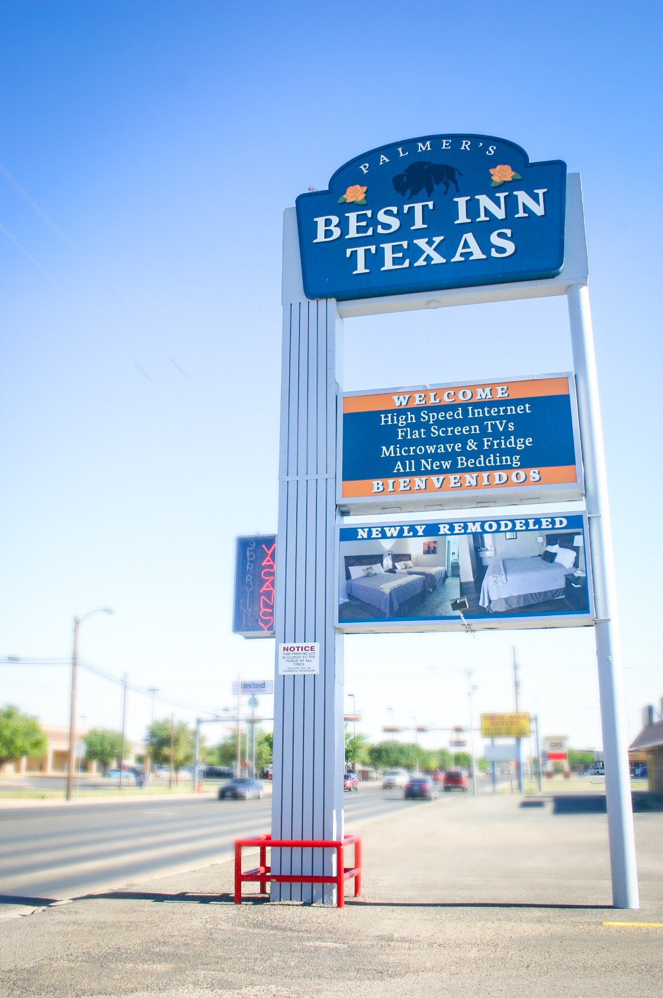 Best Inn Texas motel sign