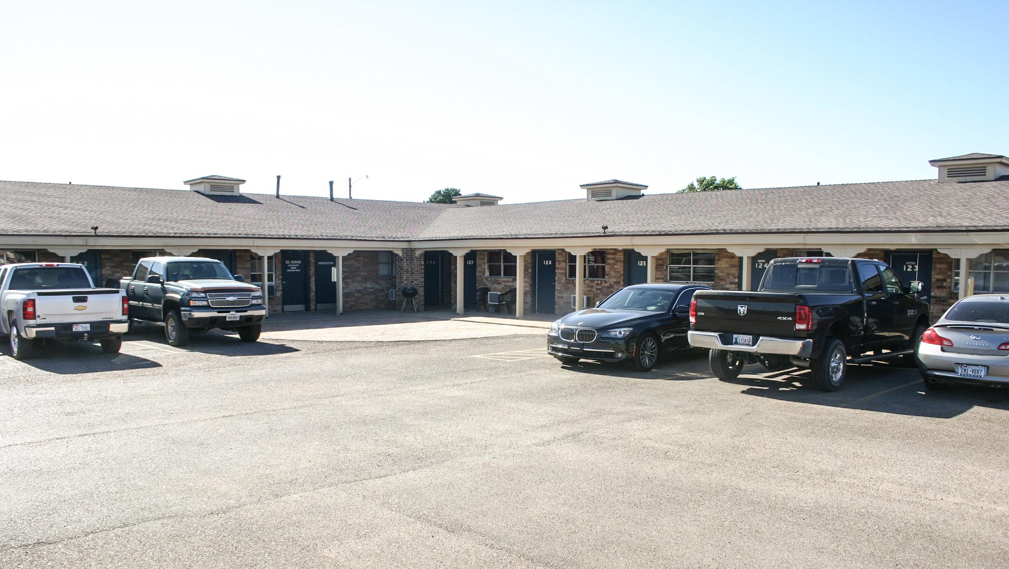Motel parking lot